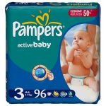 Подгузники Pampers Active Baby GIANT PACK [3] Midi 4-9кг (96шт)