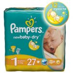 Подгузники Pampers Newborn [1] 2-5кг (27шт)