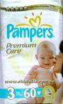 Подгузники Pampers Premium Care Midi [3] 4-9 кг (60шт)