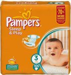 Подгузники Pampers Sleep & Play Midi [3] 4-9 кг (100шт)